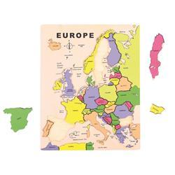 Ukladanka Edukacyjna Mapa Europy Puzzle Drewniane