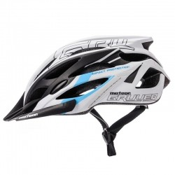 KASK ROWEROWY METEOR GRUVER white/black/blue-75330